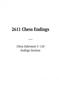 2611 Chess Endings