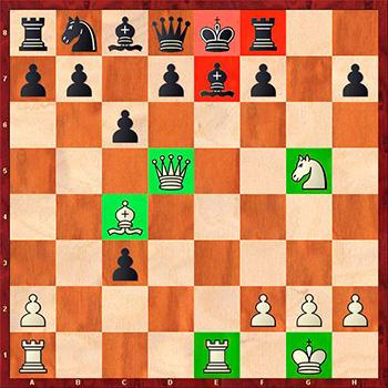 4 совет при атаке на короля в центре