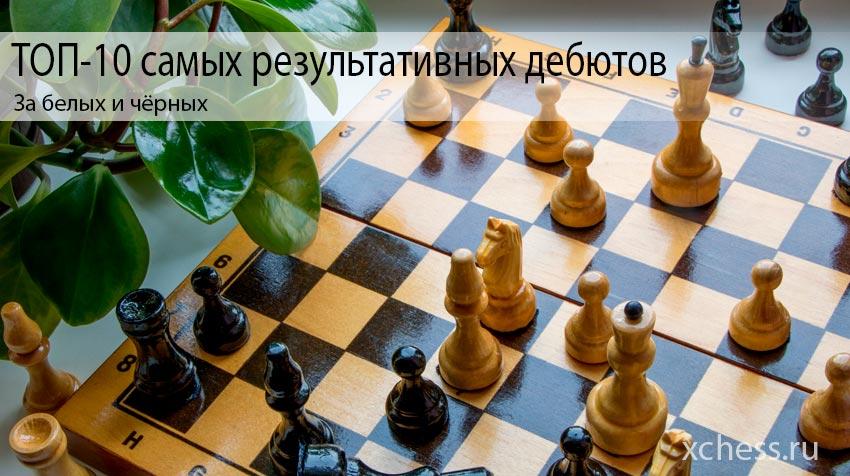 ТОП-10 самых результативных шахматных дебютов за белых и чёрных
