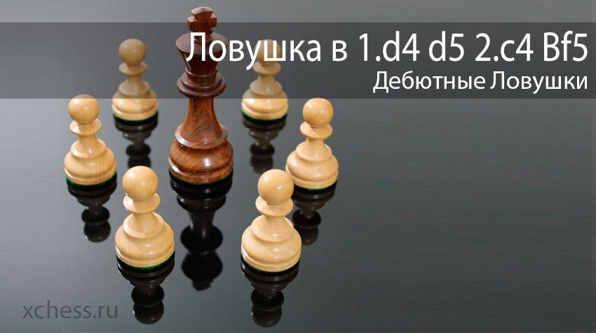 Ловушка в 1.d4 d5 2.c4 Bf5