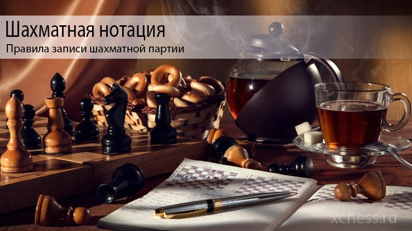 Шахматная нотация или Правила записи шахматной партии