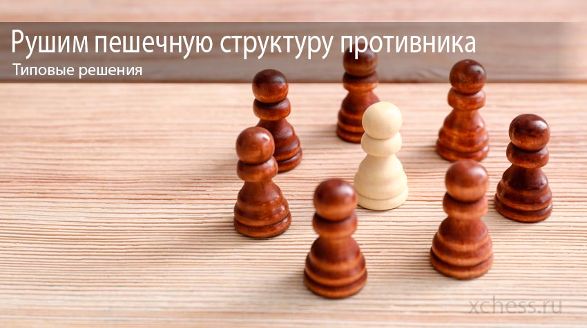 Рушим пешечную структуру противника – типовые решения