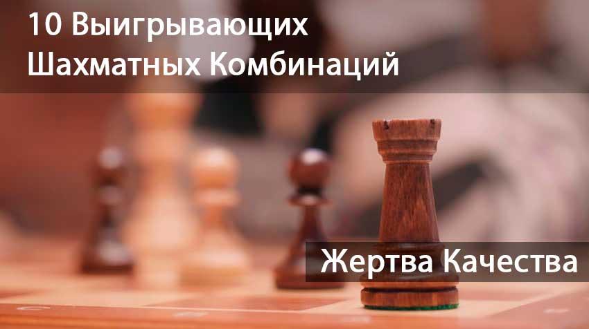10 Выигрывающих Шахматных Комбинаций: Жертва Качества