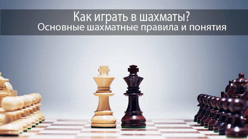 Как играть в шахматы? Основные шахматные правила и понятия.