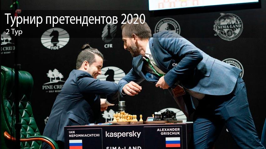 2 Тур. Турнир претендентов 2020 по шахматам