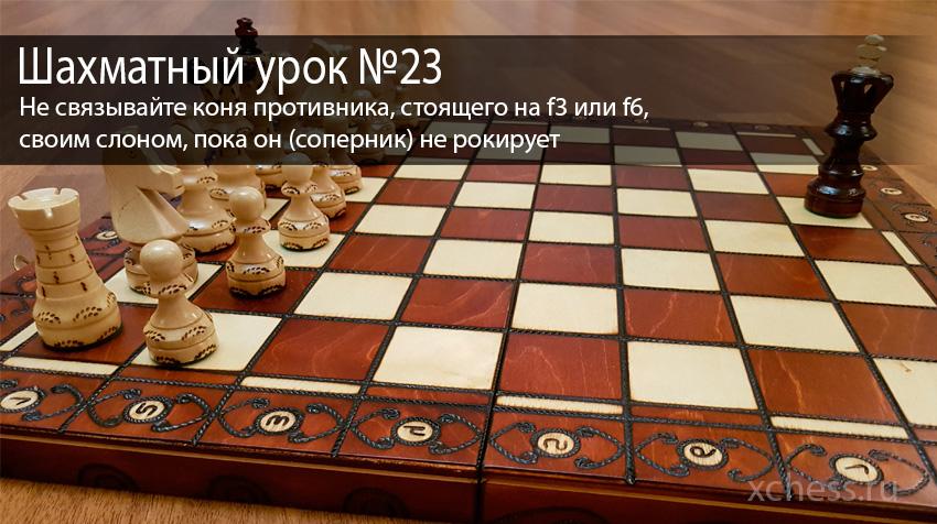 Шахматный урок №23